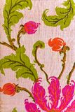Ciérrese para arriba de tela retra de la tapicería Fotografía de archivo libre de regalías