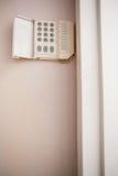 Ciérrese para arriba de telclado numérico de la seguridad en el hogar Fotos de archivo