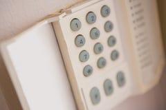 Ciérrese para arriba de telclado numérico de la seguridad en el hogar Fotografía de archivo