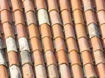 Ciérrese para arriba de textura del tejado Fotos de archivo libres de regalías