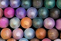 Ciérrese para arriba de tizas del color Fotografía de archivo