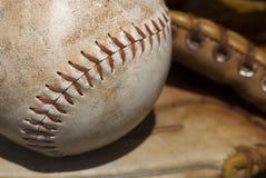Ciérrese para arriba de un béisbol imágenes de archivo libres de regalías