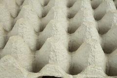 Ciérrese para arriba de un cartón vacío del huevo Imagen de archivo