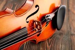 Ciérrese para arriba de un detalle del violín Fotos de archivo