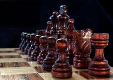 Ciérrese para arriba de un juego del ajedrez Fotos de archivo libres de regalías