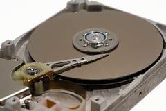 Ciérrese para arriba de un mecanismo impulsor duro del ordenador interno Imágenes de archivo libres de regalías