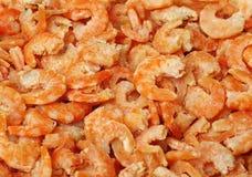 Ciérrese para arriba de un montón de camarones secados Imágenes de archivo libres de regalías