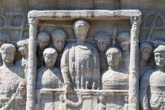 Ciérrese para arriba de un obelisco en Sultanahmet, Estambul fotografía de archivo