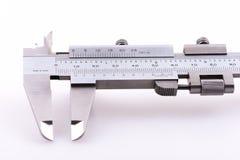Ciérrese para arriba de un sistema de los calibradores a vernier Foto de archivo