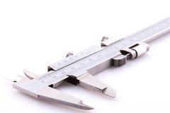 Ciérrese para arriba de un sistema de los calibradores a vernier Imágenes de archivo libres de regalías