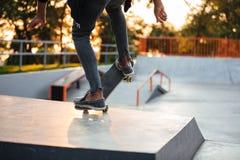 Ciérrese para arriba de un skater joven Imágenes de archivo libres de regalías