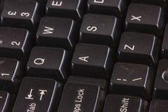 Ciérrese para arriba de un teclado de la PC del ordenador Imagen de archivo libre de regalías