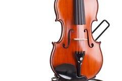Ciérrese para arriba de un violín Foto de archivo