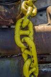 Ciérrese para arriba de una cadena pesada Foto de archivo
