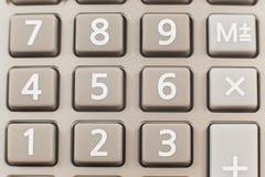Ciérrese para arriba de una calculadora Fotos de archivo libres de regalías