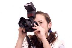 Ciérrese para arriba de una fotografía bonita de la muchacha Imágenes de archivo libres de regalías