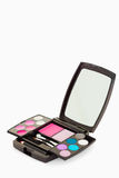 Ciérrese para arriba de una gama de colores del maquillaje Fotos de archivo libres de regalías