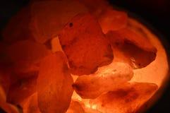 Ciérrese para arriba de una lámpara de la sal fotografía de archivo libre de regalías