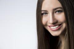Ciérrese para arriba de una mujer del smilng Imagen de archivo