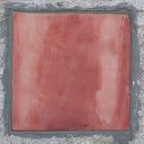 Ciérrese para arriba de una pared roja Fotos de archivo