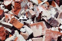 Ciérrese para arriba de una pila de ladrillos Fotografía de archivo libre de regalías
