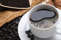 Ciérrese para arriba de una taza de café deliciosa Fotos de archivo libres de regalías