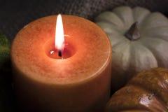 Ciérrese para arriba de vela anaranjada Foto de archivo libre de regalías