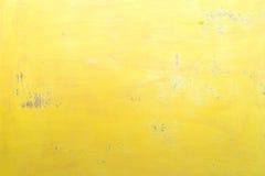Ciérrese para arriba de vieja textura de madera amarilla de la pared Foto de archivo