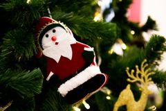 Ciérrese para arriba del árbol de navidad Fotos de archivo