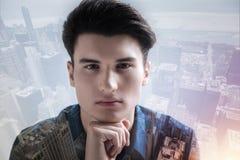 Ciérrese para arriba del adolescente tranquilo que le mira Fotografía de archivo libre de regalías