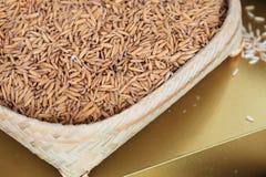 Ciérrese para arriba del arroz de arroz Fotografía de archivo