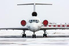 Ciérrese para arriba del avión de pasajeros del pasajero Fotografía de archivo libre de regalías