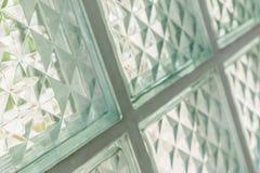 Ciérrese para arriba del bloque de cristal Fotos de archivo