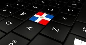 Ciérrese para arriba del botón dominicano ilustración del vector