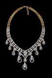Ciérrese para arriba del collar de diamante Imágenes de archivo libres de regalías