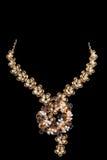 Ciérrese para arriba del collar de diamante foto de archivo libre de regalías
