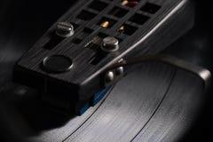 Ciérrese para arriba del disco de vinilo que juega II Imagen de archivo