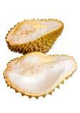 Ciérrese para arriba del durian pelado aislado Imágenes de archivo libres de regalías