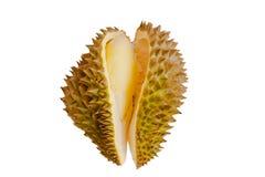 Ciérrese para arriba del durian pelado aislado Fotografía de archivo