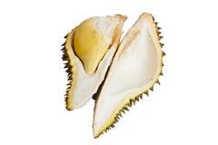 Ciérrese para arriba del durian pelado aislado Imagenes de archivo