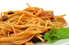 Ciérrese para arriba del espagueti Imagen de archivo libre de regalías