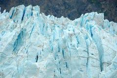 Ciérrese para arriba del glaciar de Margerie, bahía de glaciar, Alaska imagenes de archivo