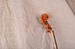 Ciérrese para arriba del jefe del violín Fotos de archivo libres de regalías