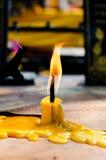 Ciérrese para arriba del palillo de la vela Fotos de archivo libres de regalías