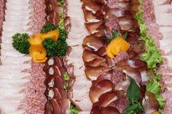 Ciérrese para arriba del salami delicioso Fotos de archivo