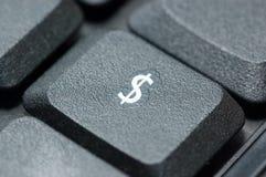 Ciérrese para arriba del teclado de la computadora portátil Foto de archivo