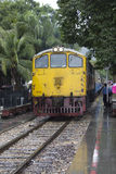 Ciérrese para arriba del tren de puente de la muerte Imagen de archivo
