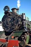 Ciérrese para arriba del tren del vapor Imágenes de archivo libres de regalías