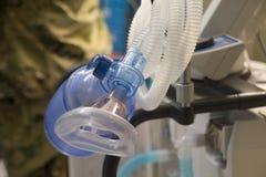 Ciérrese para arriba del ventilador en clínica de la emergencia imagen de archivo libre de regalías