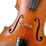 Ciérrese para arriba del violín de madera viejo Imagen de archivo libre de regalías